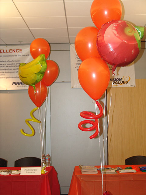 fruit and vegetable balloons