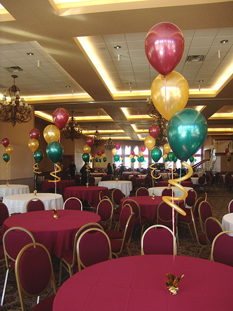 balloon bouquets centerpieces