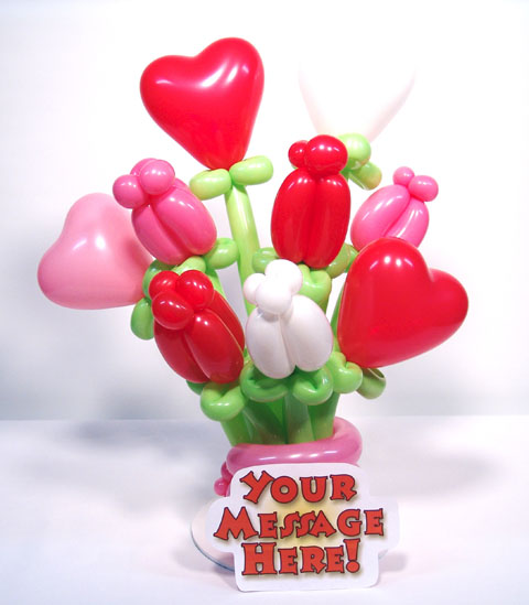 huge love bouquet balloons valentines day delivery denver