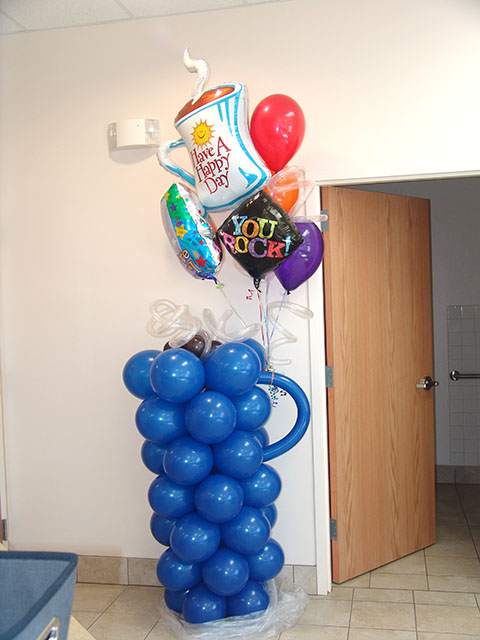 balloon coffee cup delivery denver