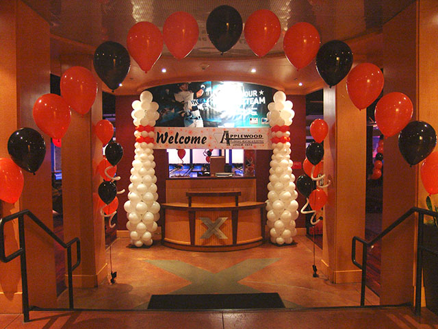 bowling themed balloon decorations denver