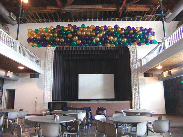 balloon drop at the Tivoli Denver