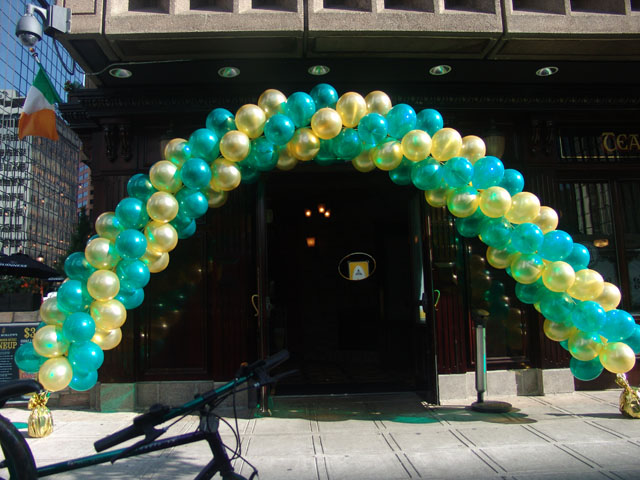 CSU balloon arch downtown denver
