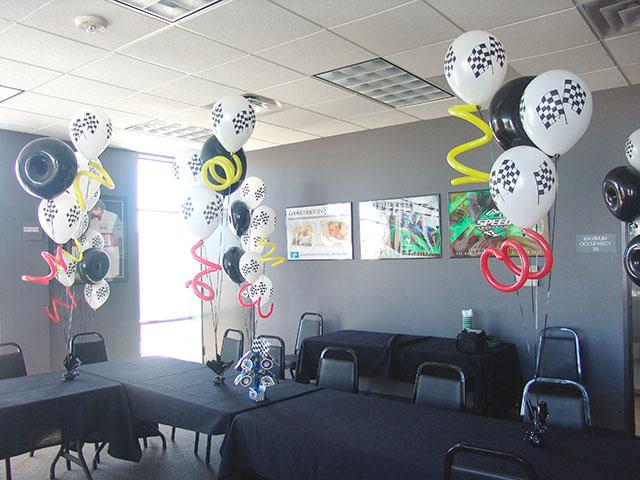 racing balloon theme denver