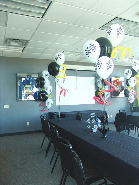 racing balloons theme denver
