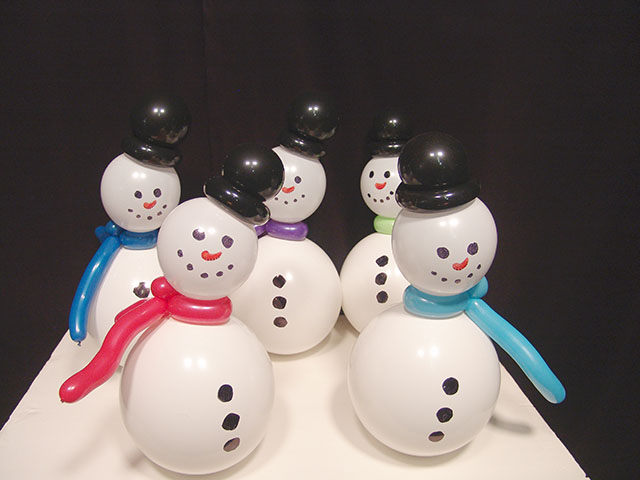 snowman balloon centerpieces aurora colorado