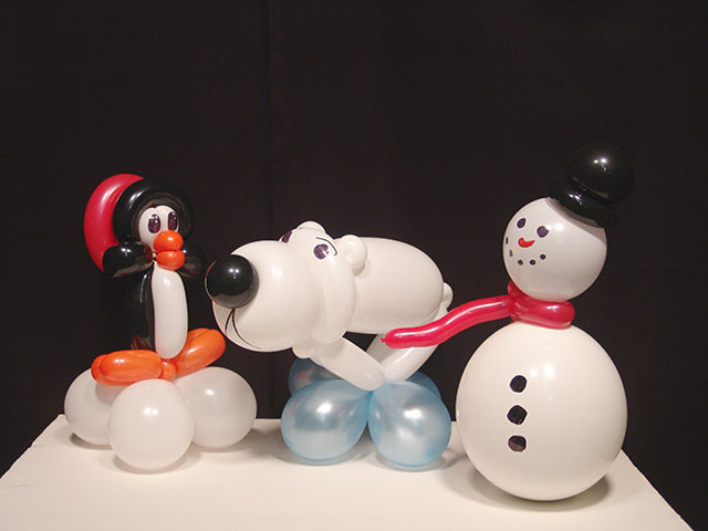 wintertime balloon centerpieces aurora colorado