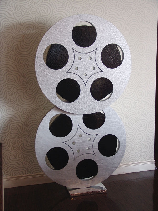 Hollywood large film reel decorations denver