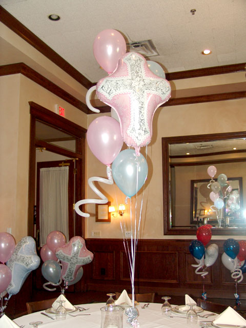 First baptism balloons for Balloon decoration ideas for christening