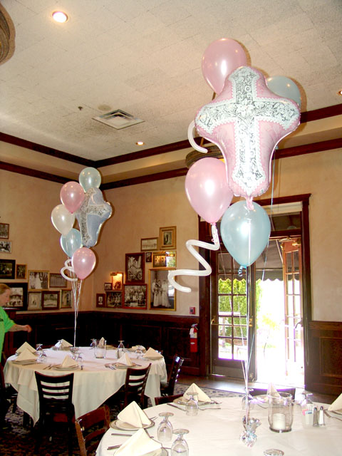 First baptism balloon decorations | BalloonDeliveryDenver.