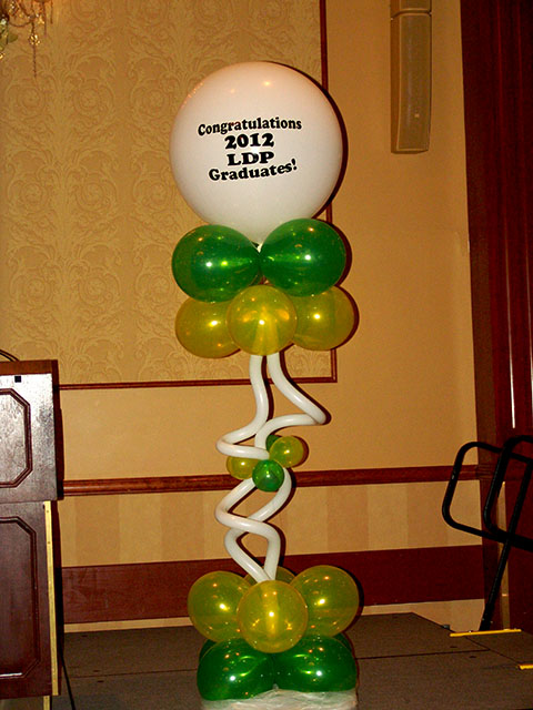 fantastic logo corporate balloon columns denver