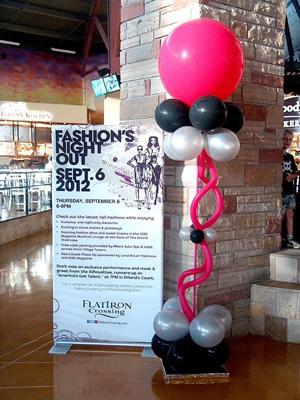 fun and funky balloon column