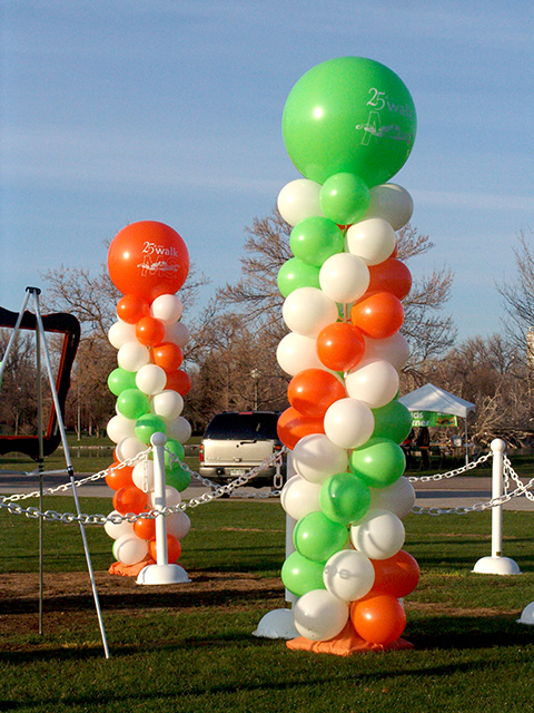 25th anniversary ms society balloon column
