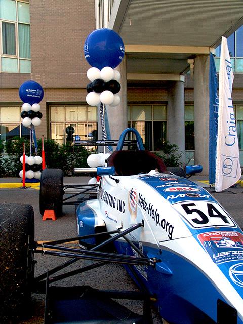 Craig Hospital Colopast Michael Johnson Racing Balloons